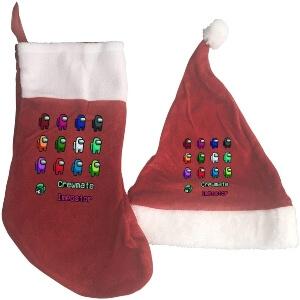 Media y gorro Navidad personajes diferentes colores Among Us
