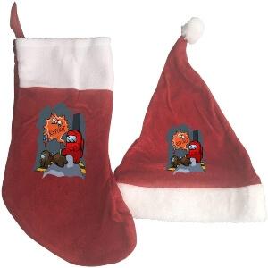 Media y gorro Navidad report Among Us