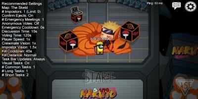 Mod de Naruto en Among Us