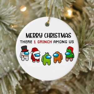 Ornamento Navidad merry christmas Among Us