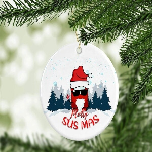 Ornamento Navidad merry sus mas Among Us