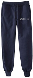 Pantalon chandal azul letras Among Us