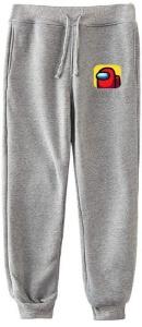 Pantalon chandal gris logotipo Among Us
