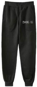 Pantalon chandal negro letras Among Us