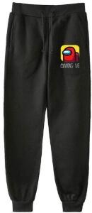 Pantalon chandal negro logotipo Among Us