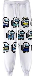 Pantalon chandal personajes blancos Among Us