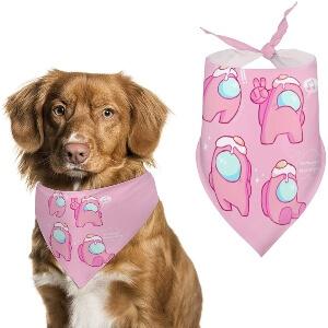 Pañuelos de Among Us para perros grandes