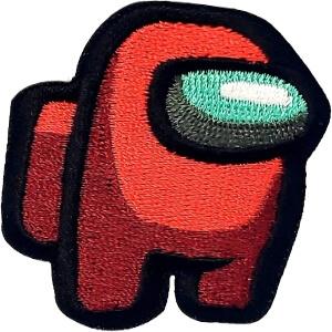 Parche del personaje rojo de Among Us