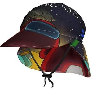 Parte delantera de los sombreros de sol de Among Us