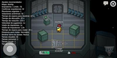 Partida online publica en el videojuego Among Us