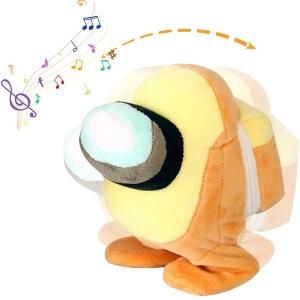 Peluche habla y baila personaje amarillo Among Us