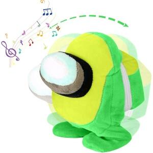Peluche habla y baila personaje verde Among Us