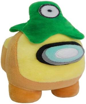 Peluche personaje amarillo con alien Among Us