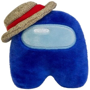Peluche personaje azul con gorro Among Us