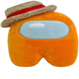 Peluche personaje naranja con gorro Among Us