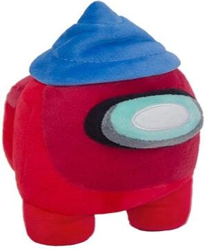 Peluche personaje rojo con sombrero Among Us