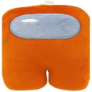 Peluche plano personaje naranja Among Us