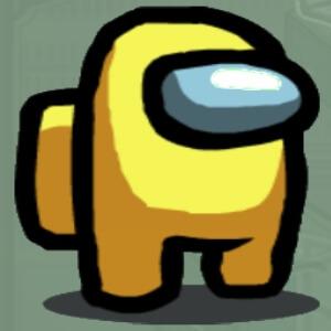 Personaje color amarillo Among Us