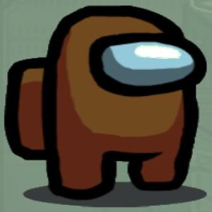 Personaje color marron Among Us