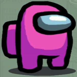 Personaje color rosa Among Us