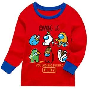 Pijama camiseta personajes you looking sus bro Among Us