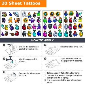 Proceso para poner tatuajes Among Us