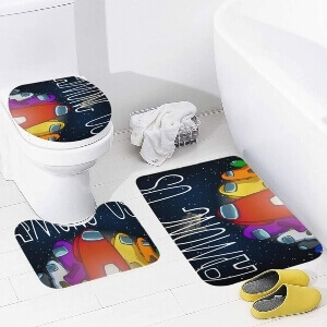 Productos decorativos Among Us para el baño