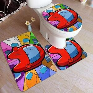 Productos decorativos para el baño personaje rojo Among Us