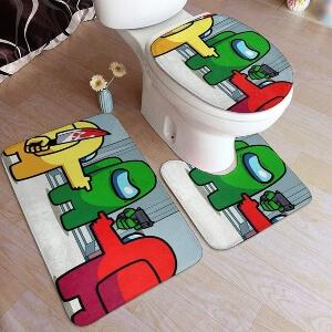Productos decorativos para el baño personajes con pistola y cuchillo Among Us