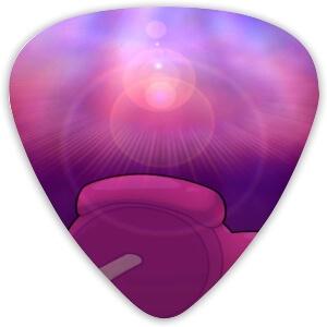 Puas guitarra cadaver personaje rosa Among Us