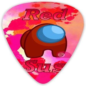 Puas guitarra personaje rojo red sus Among Us