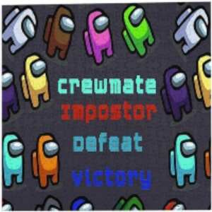 Puzzle crewmate impostor defeat victory con personajes Among Us