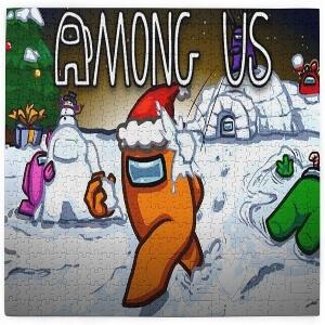 Puzzle personajes Navidad Among Us