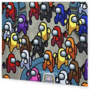 Puzzle personajes con manos Among Us