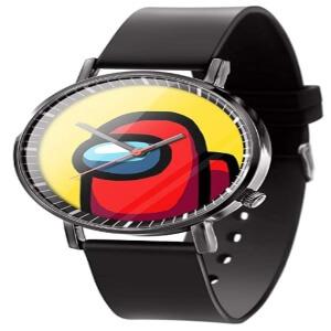 Reloj analogico personaje rojo Among Us
