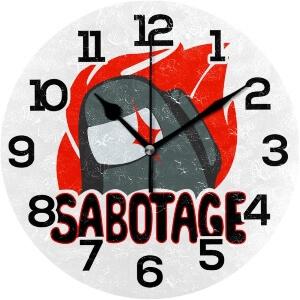 Reloj de pared sabotage Among Us