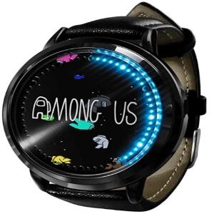 Reloj digital personajes en el espacio Among Us