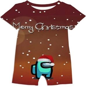 Ropa bebe merry christmas personajes celeste Among Us