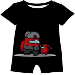 Ropa bebe personaje rojo con personaje rojo mini Among Us