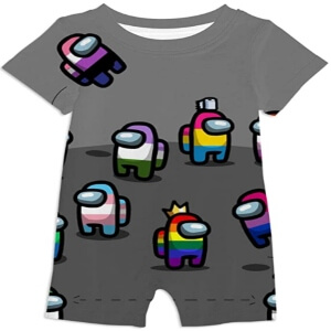 Ropa bebe personajes diferentes colores Among Us