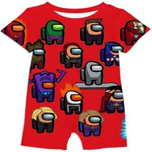 Ropa bebe personajes superheroes Among Us