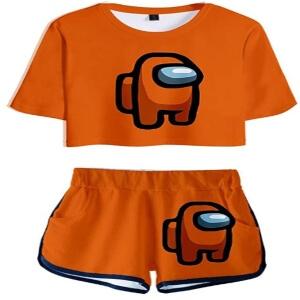 Ropa deportiva personaje naranja Among Us