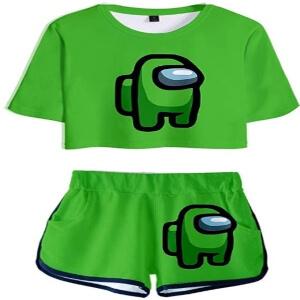 Ropa deportiva personaje verde Among Us