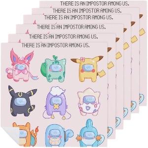Servilletas personajes pokemon Among Us