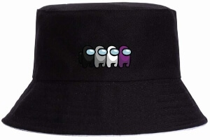 Sombrero cuatro personajes diferentes colores Among Us