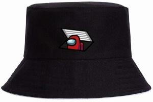 Sombrero personaje rojo saliendo alcantarilla Among Us