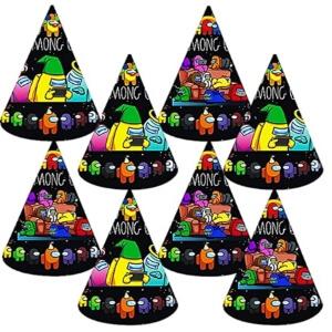 Sombreros de fiesta con diseños de Among Us