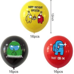 Tamaños globos de Among Us