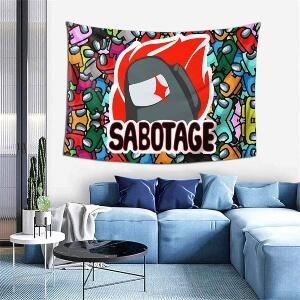 Tapiz personaje gris sabotage Among Us