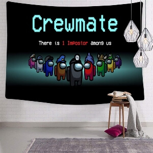 Tapiz personajes crewmate Among Us